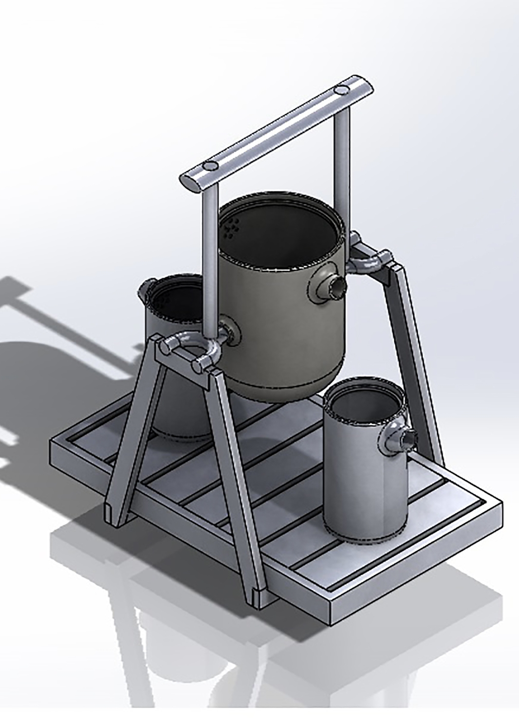 The model was drawn and tested in Solidworks before a final prototype was made