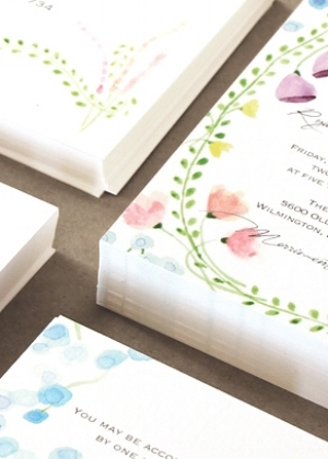 Wedding Invitations   Custom stationery created from original watercolor paintings