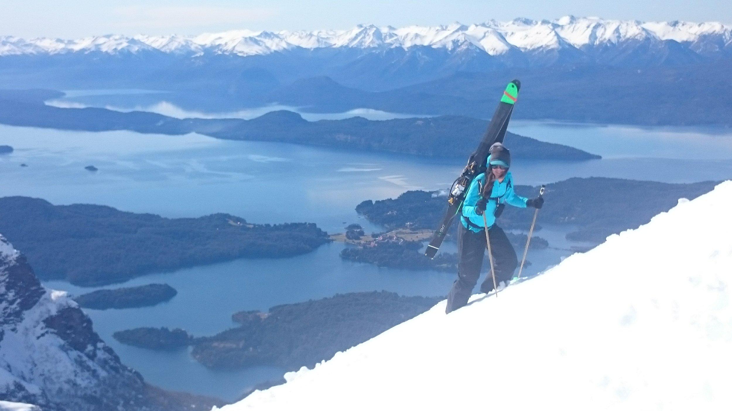 Christina Lusti heading up near Bariloche, Argentina