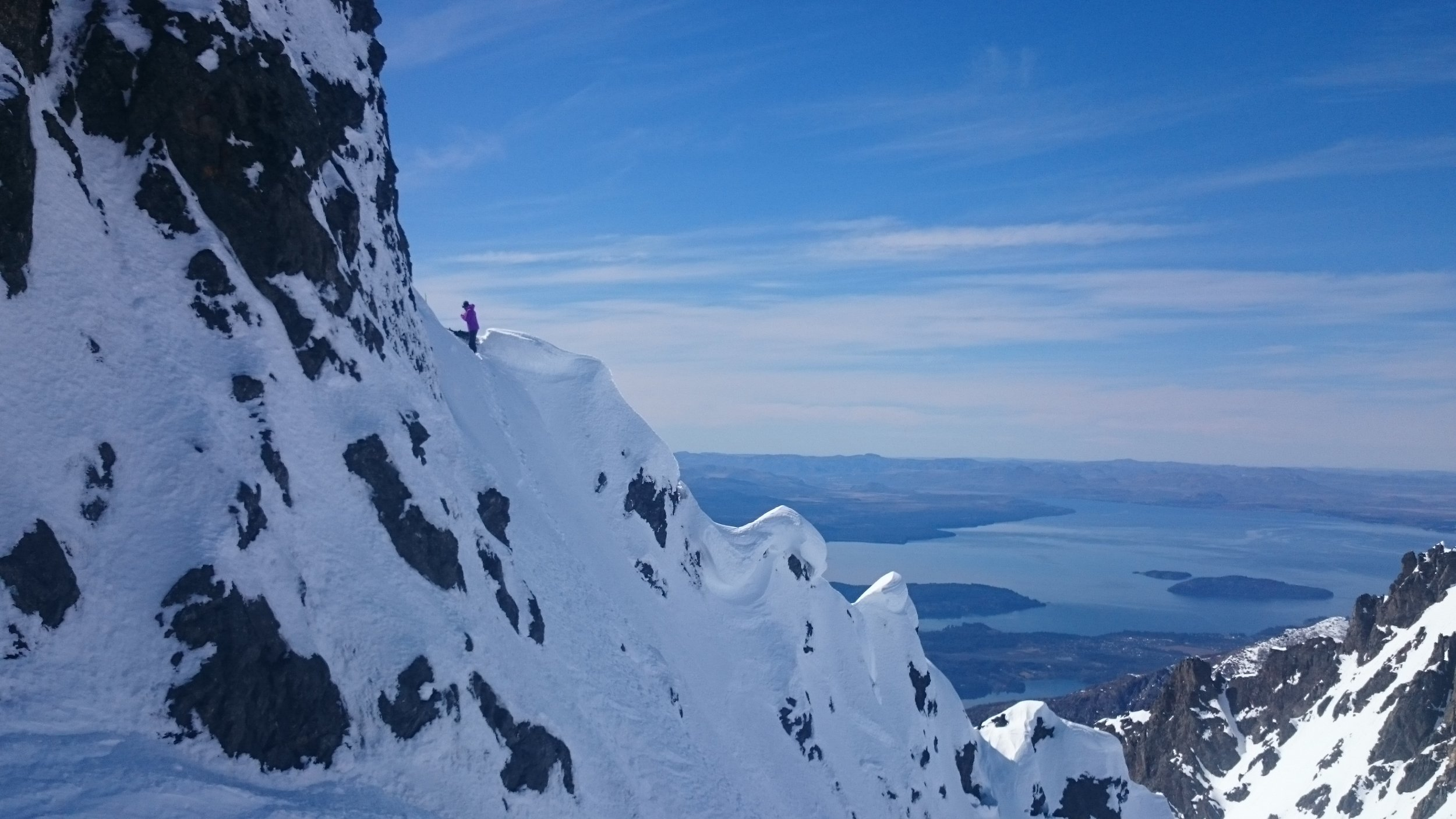 Getting ready to drop in. Christina Lusti in Argentina.