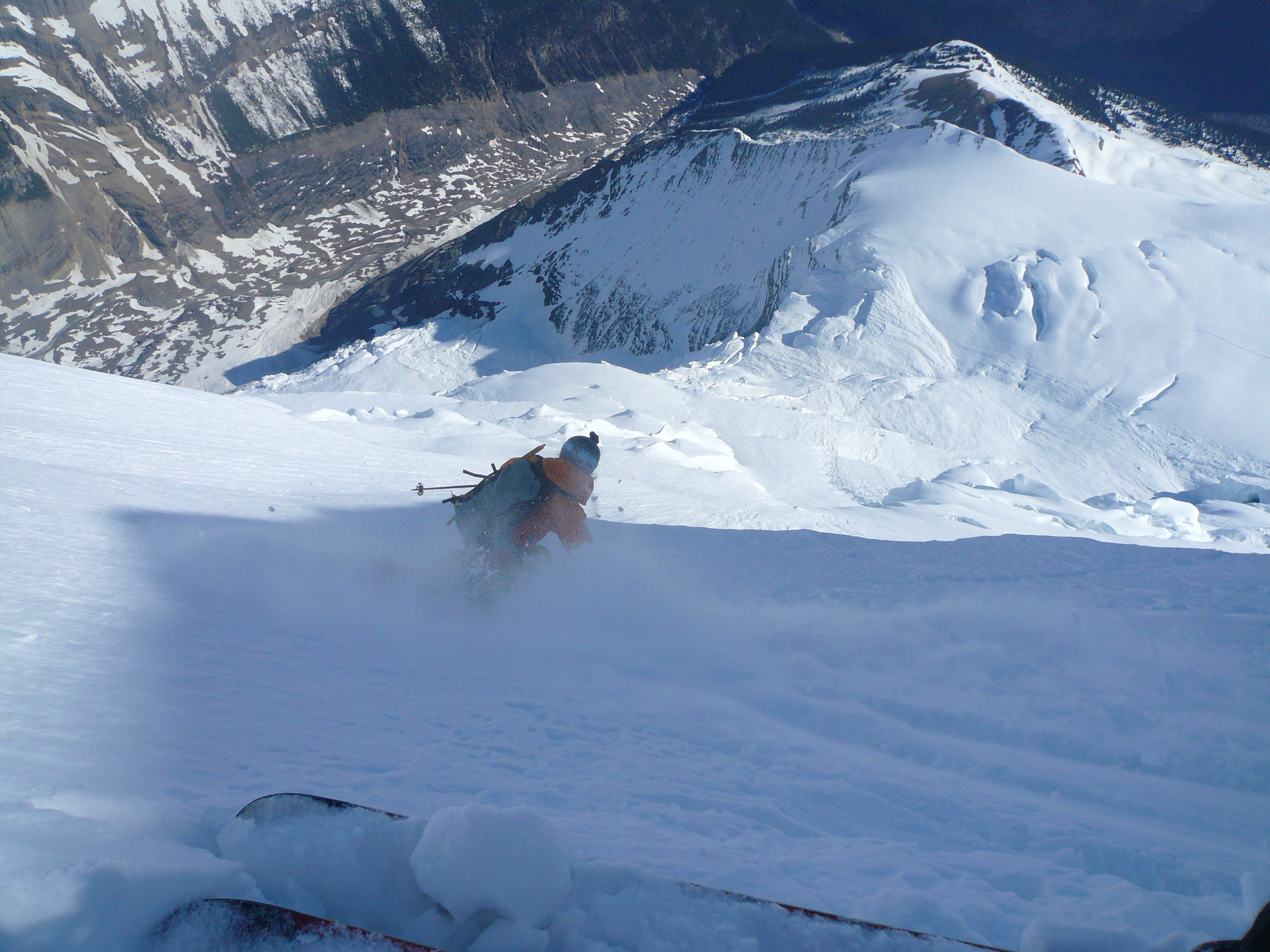 Eric Hjorleifson's first turns on the North Face
