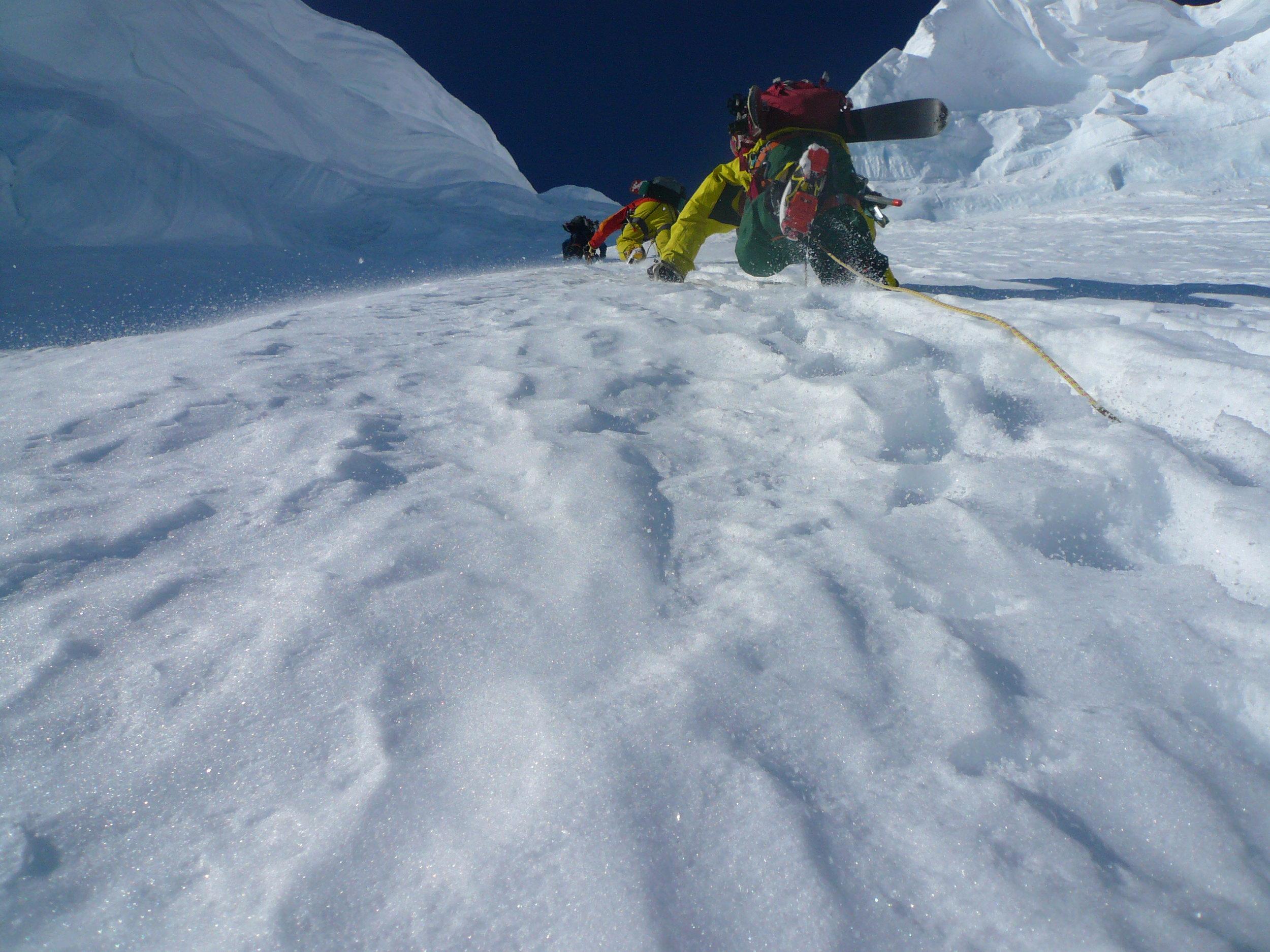 Martin Lefebvre, Chris Rubens, Eric Hjorleifson climb Mt Clemenceau North Face