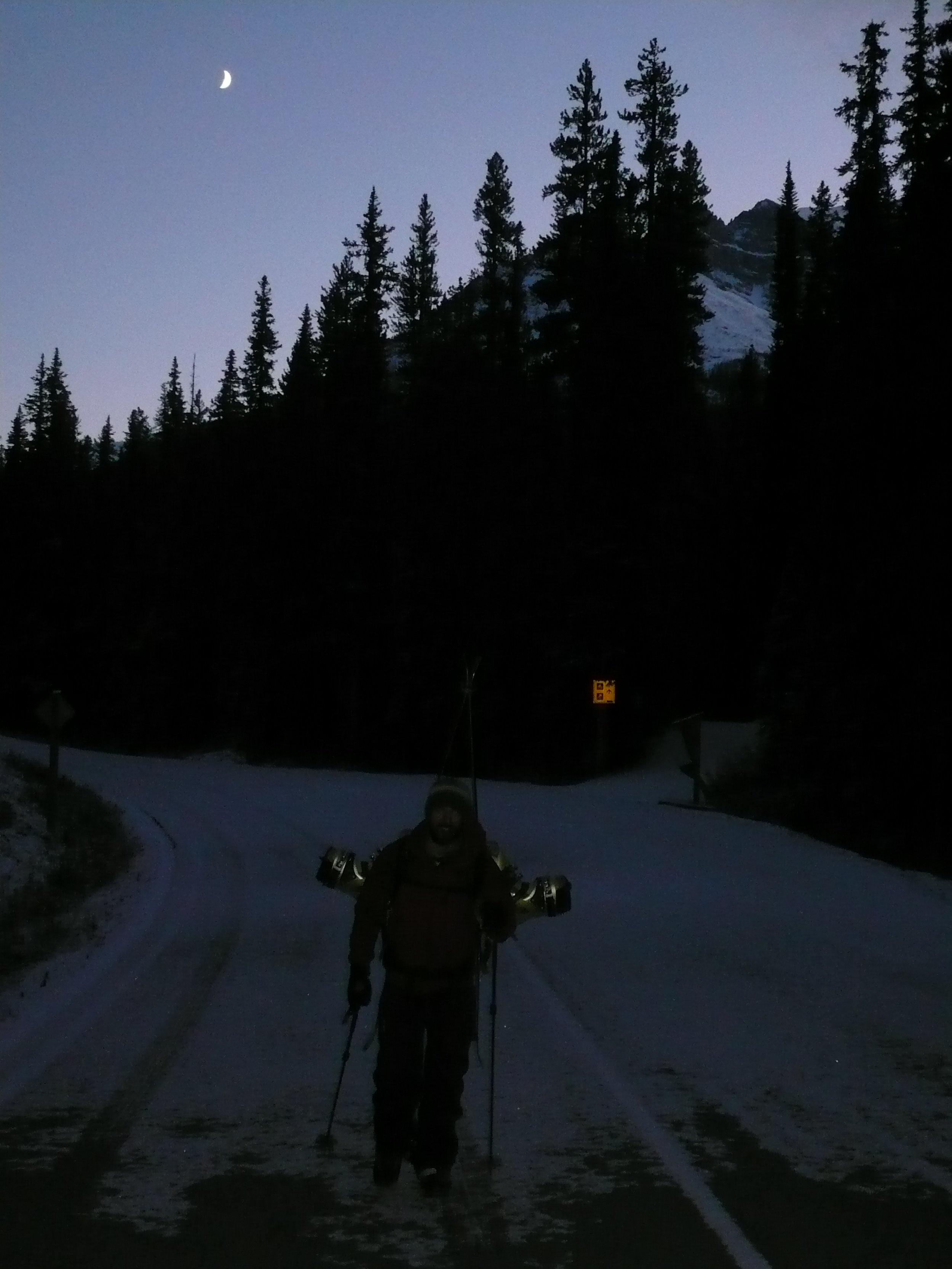 Lefebvre walks the road home in the dark