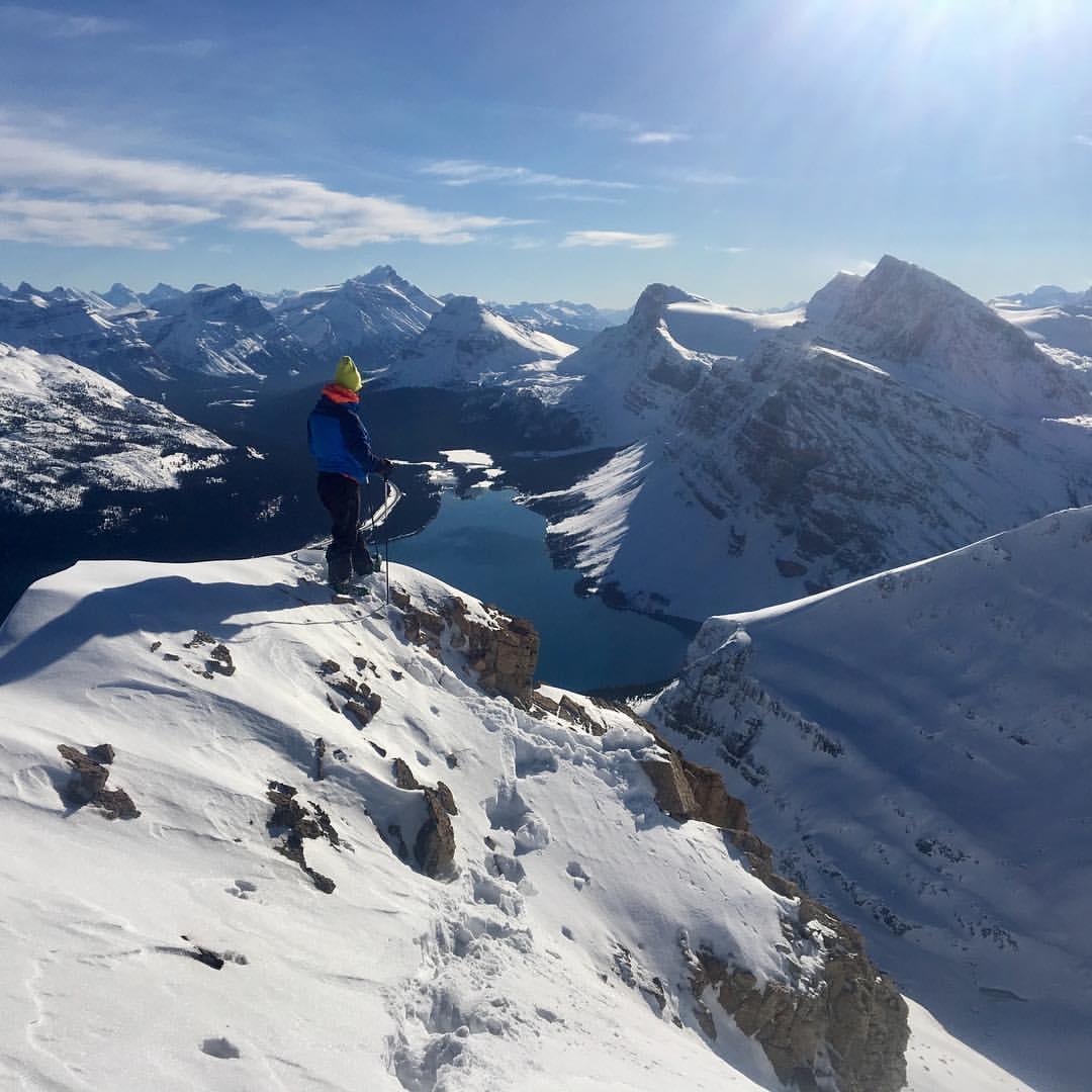 Ross MacKimmie enjoying the view of Bow Lake, Nov 4, 2016