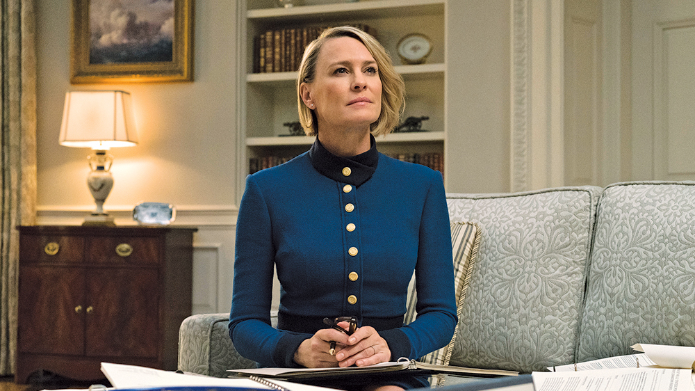 Robin Wright replaces Kevin Spacey as  House of Cards'  lead character in the latest and final season.