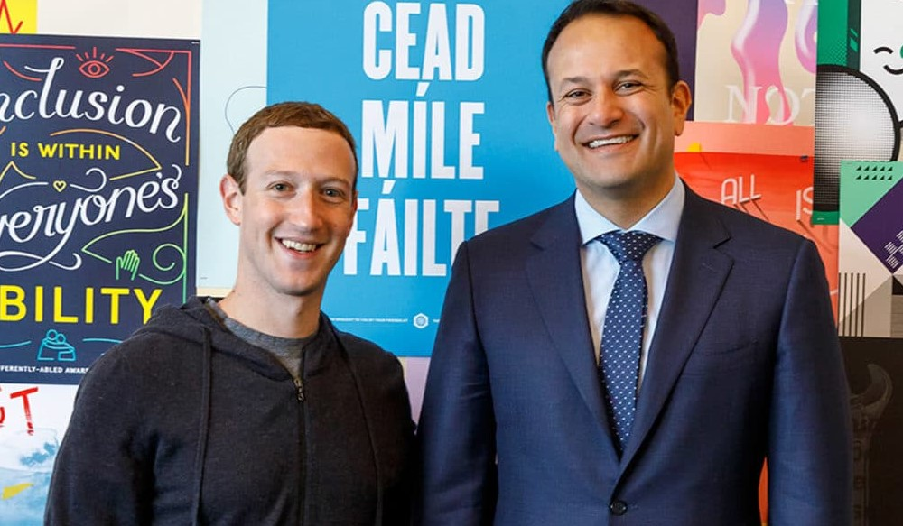 Taoiseach Leo Varadkar meets Mark Zuckerberg.