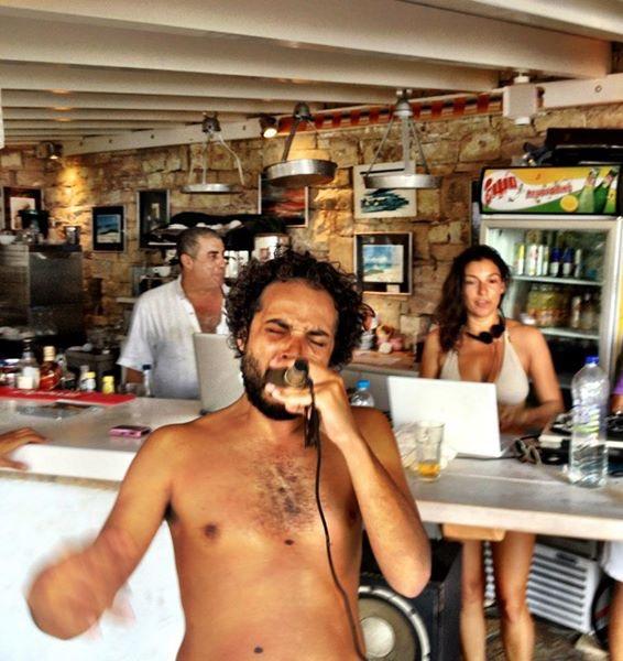 Beach gig in Paxos