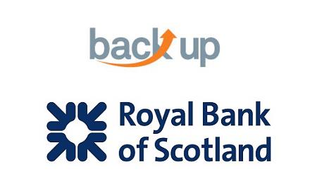 Back Up Trust and Royal Bank of Scotland logos