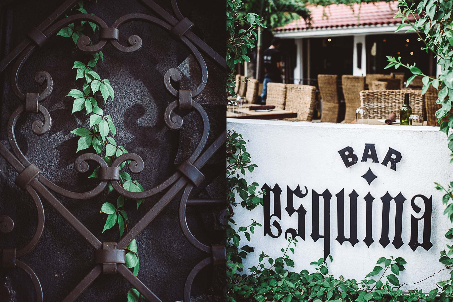 Entrance to La Esquina Bar, located inside Bahia Hotel & Beach Resort. Cabo San Lucas, Mexico