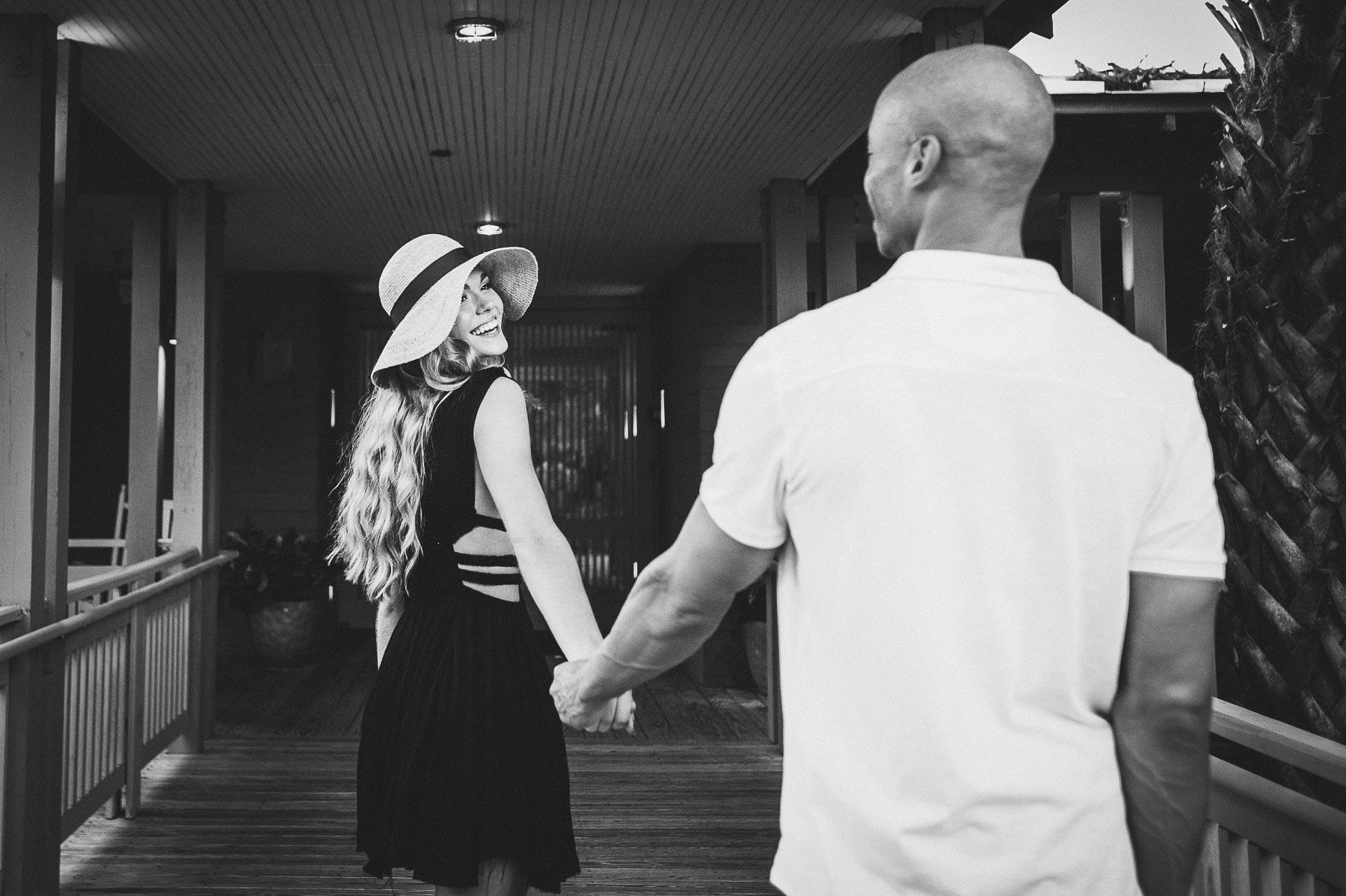 Couple enters The Spa at Omni, Amelia Island Plantation Resort.