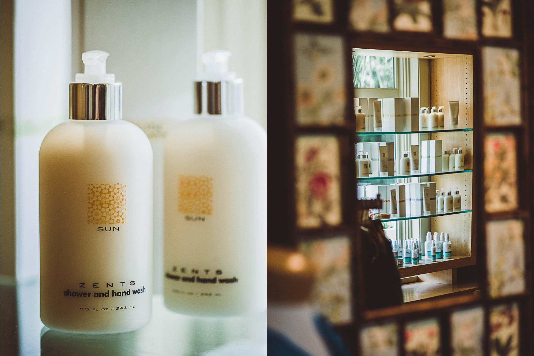 Zents spa products at Omni Amelia Island Resort.