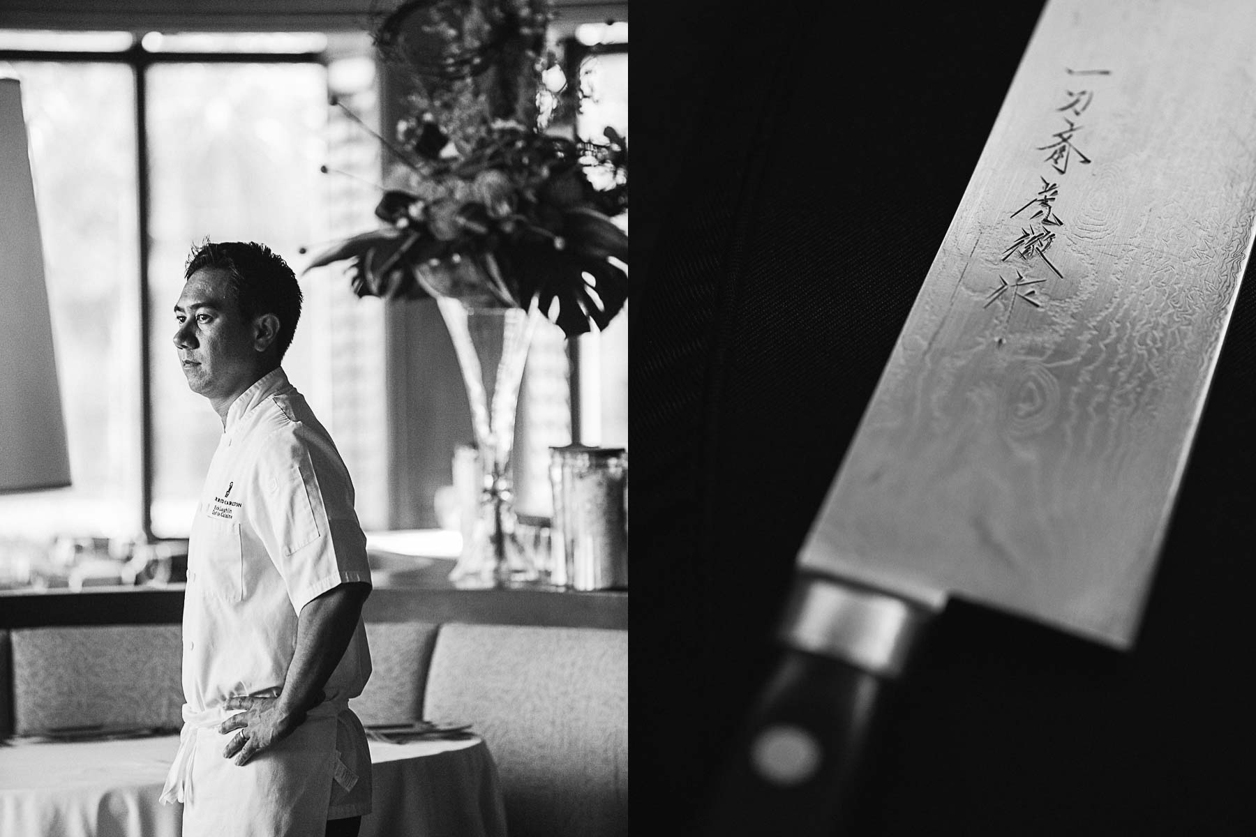Portrait of Chef Rick Laughlin at Salt restaurant Ritz-Carlton, Amelia Island, Florida.