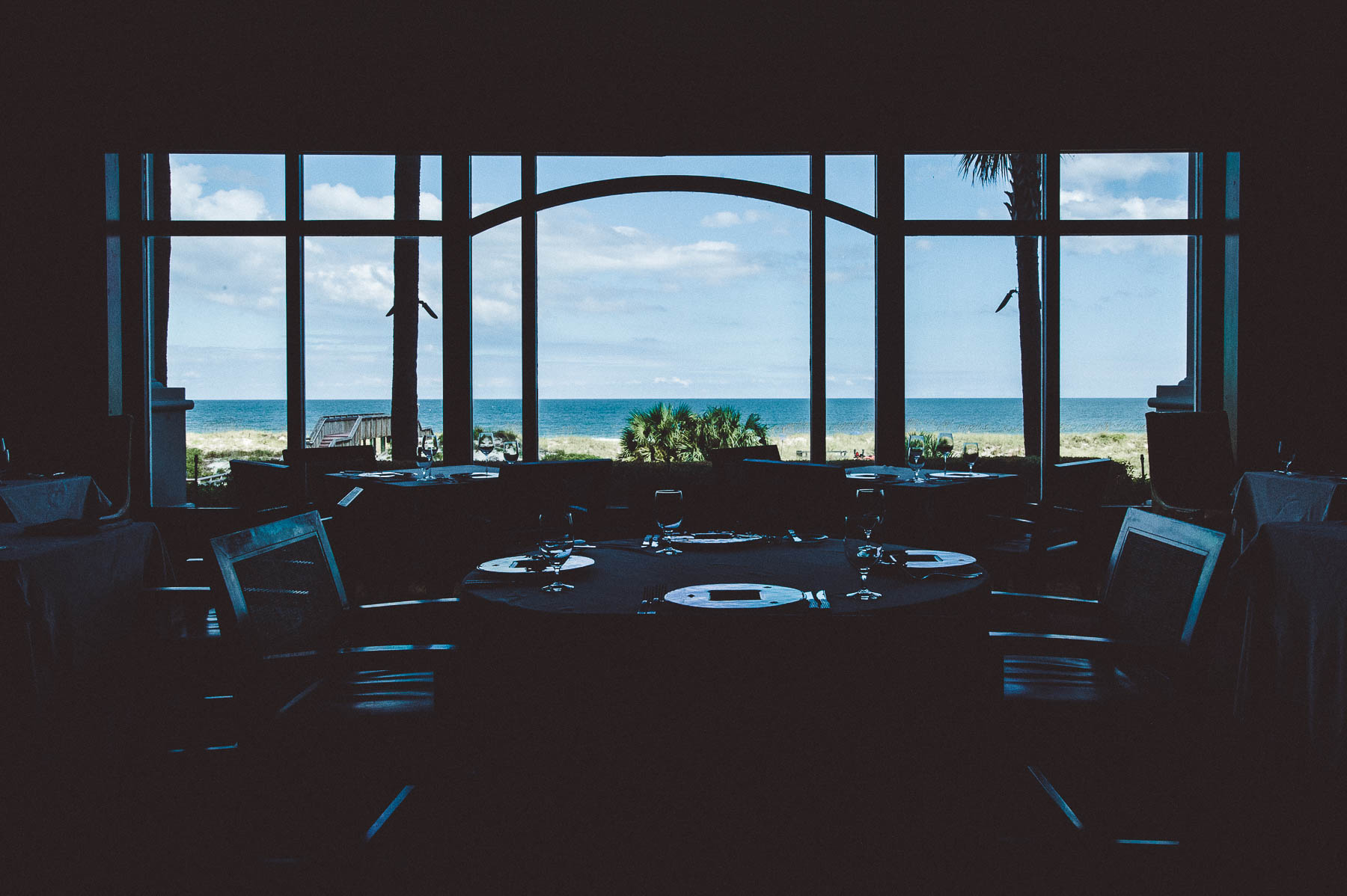 A view of the Altantic ocean from the dining room at Salt, Ritz-Carlton, Amelia Island.