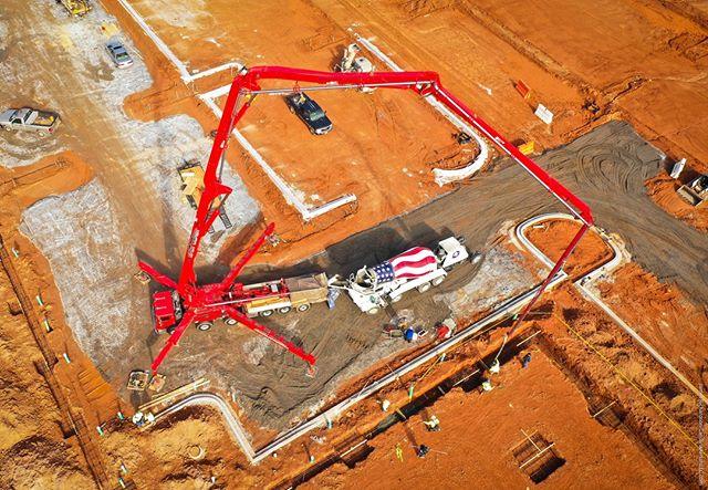 #Droneview: #EastCoastConcretePumping, #Greenville, #SouthCarolina | #drone #aerial #aerialphotography
