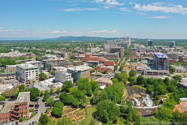 #Droneview: #Greenville, SC | @visitgreenvillesc . #drone #aerial #aerialphtography