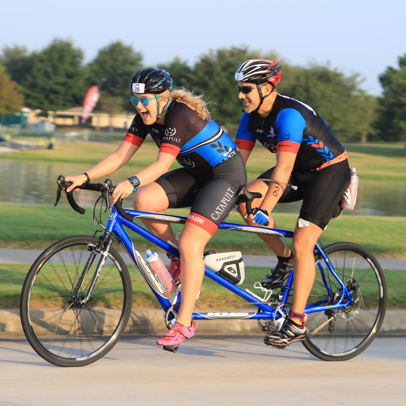 Cheyenne Meyer (Guide) - I began working with Team Catapult as a sighted guide for a visually impaired athlete in January 2017. Since then, I've guided a handful of Catapult athletes at various events, ranging from the Cypress Sprint Triathlon to the Aramco Half Marathon to the Ironman Texas 70.3. I have also guided at the USA Paratriathlon National Championships, piloted at the Olympic Training Center's Paracycling and Paratriathlon camps, and was part of the National Champion tandem duo at the 2019 USA Paracycling Road National Championships, in the time trial! My favorite part of being involved with Team Catapult is the camaraderie and great memories made at each team practice and event!
