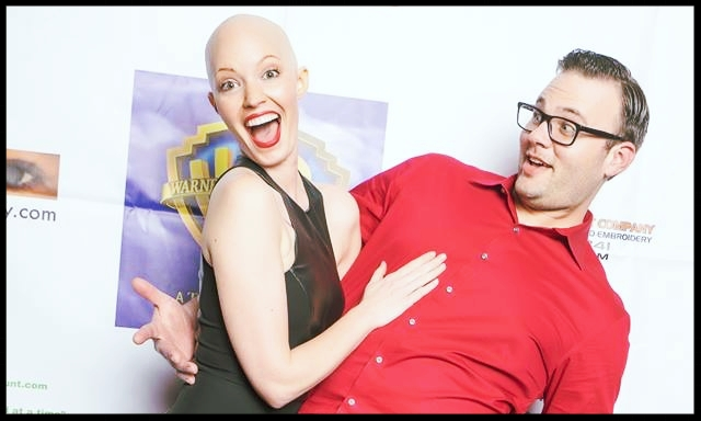 Aniela and her husband, Jordan, at an event during her chemo.