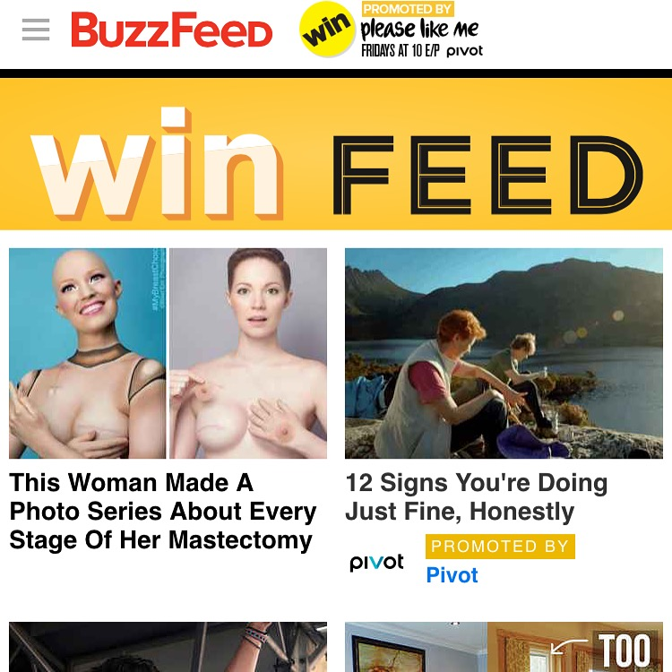 Buzzfeed Aniela McGuinness Win Feed Double Mastectomy Photo Series