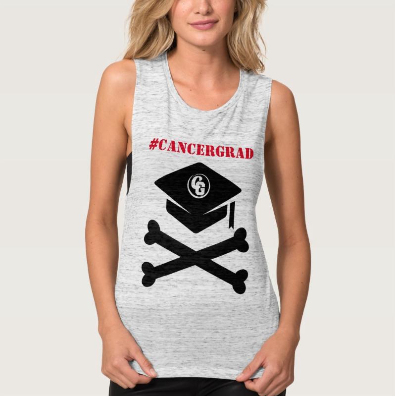 CancerGrad_Cap_and_Crossbones_Shop_Cancer_Grad_Tank_Top_Women