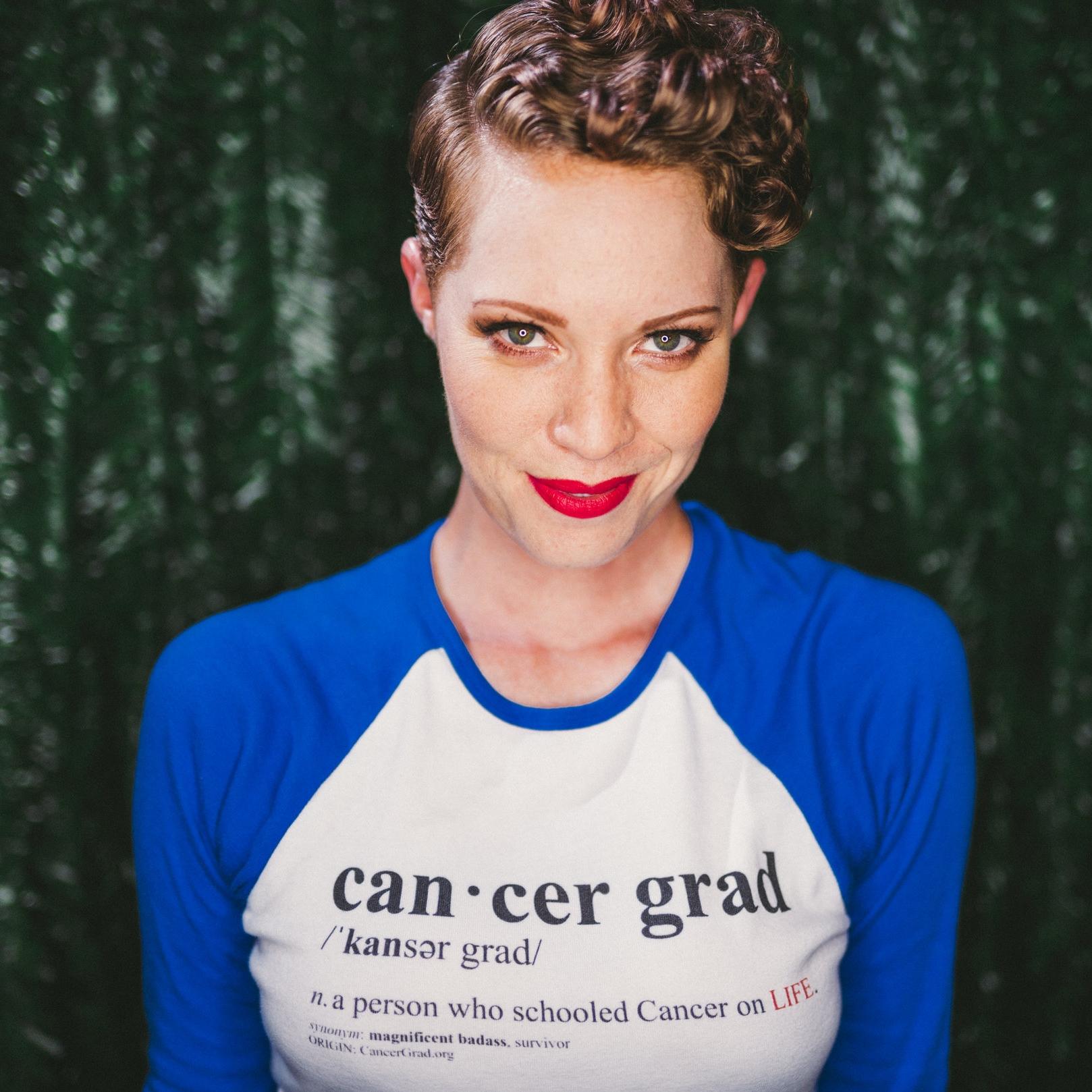 CancerGrad_Baseball_TShirt_Blue_Cancer_Grad_Definition_Aniela_McGuinness