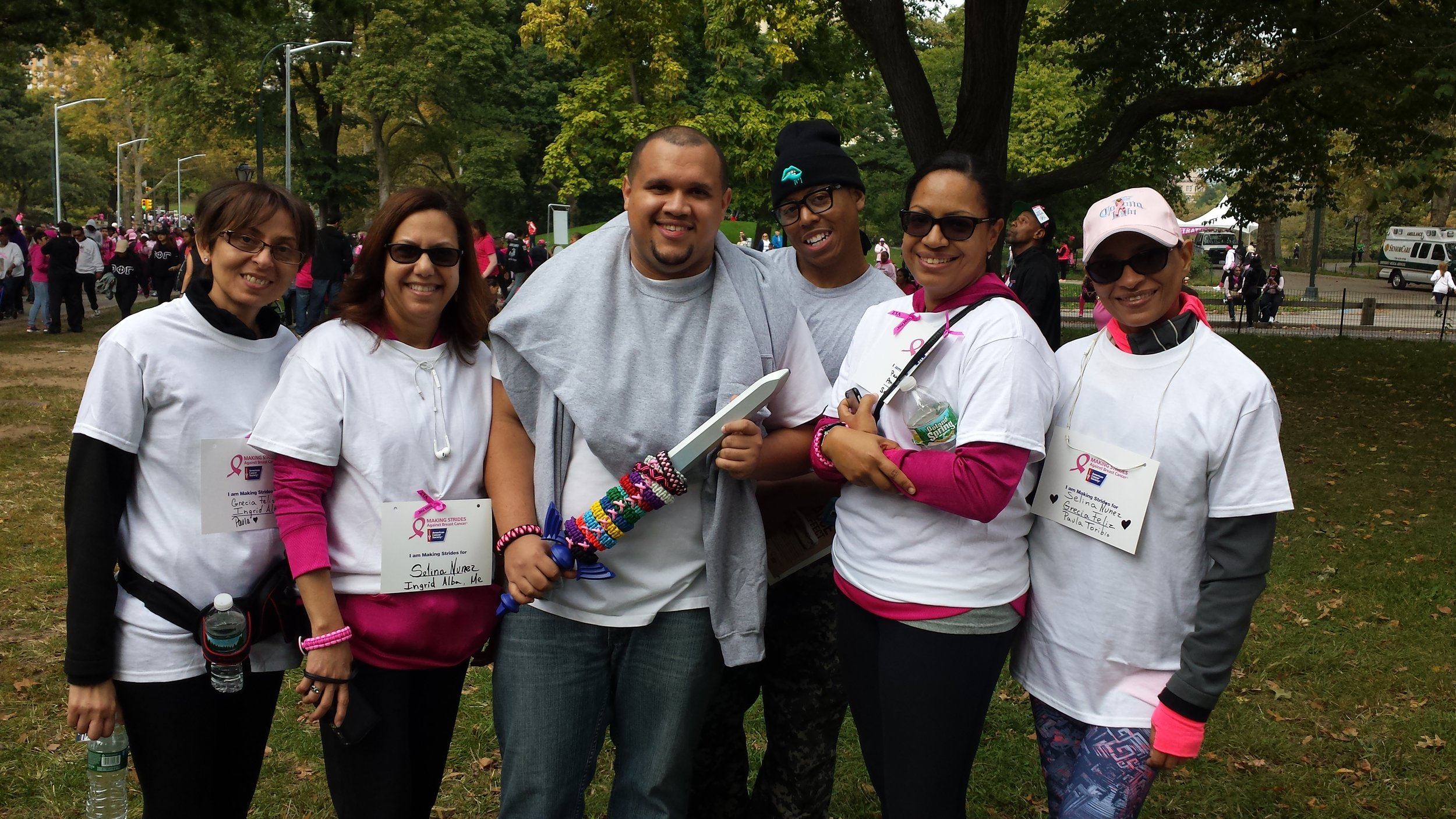 Jhairol_Feliz_Mysterious_Wicked_Fighters_Breast_Cancer_Pericords_Walk_New_York_Sword