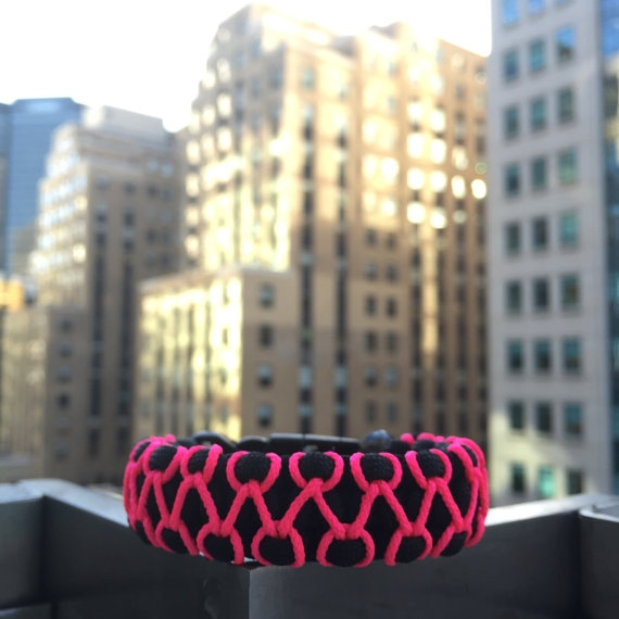 paracord_Survival_bracelet_Breast_Cancer_MWF_Mysterious_Wicked_Fighters_Etsy_Pink_MWF