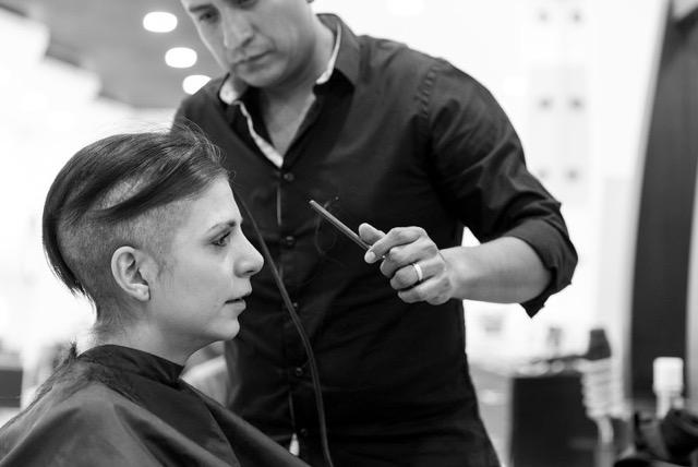 Lorena de la pena breast cancer CancerGrad Yearbook chemo haircut tears barber