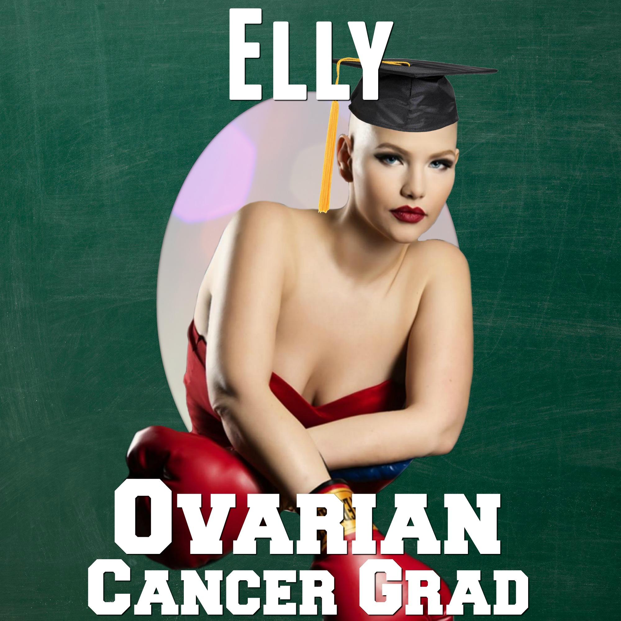 Elly mayday grad photo cancer grad yearbook