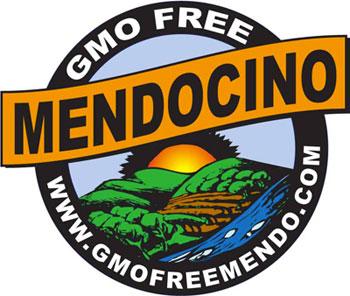 GMO Free Mendocino logo, designed by Sid Cooperrider, c. 2003