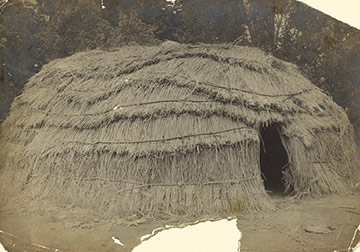 Tule House, unknown photographer, circa 1880, Grace Hudson Museum collection