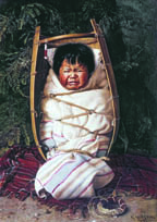"""Little Mendocino  Grace Carpenter Hudson 1892, oil on canvas 36"""" x 26""""   In the collections of the California Historical Society"""