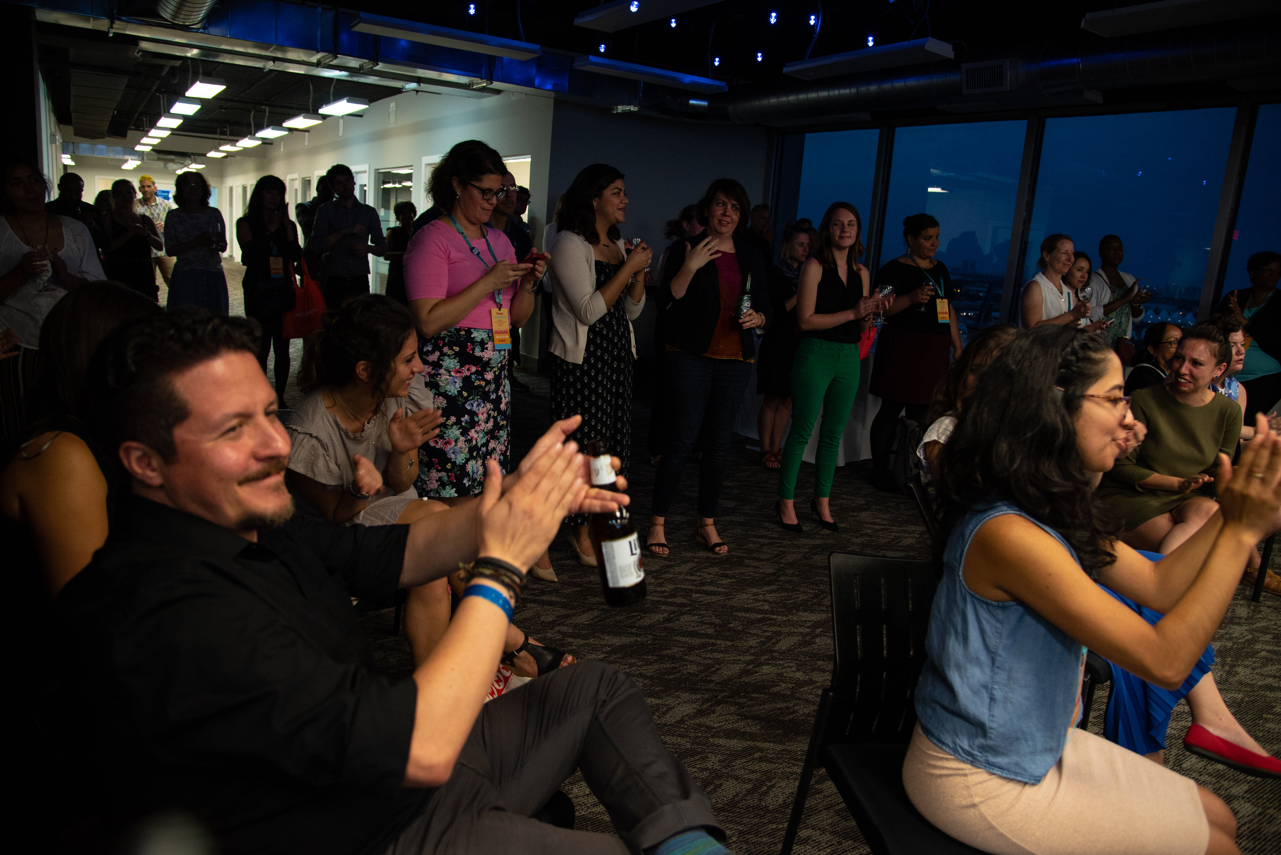 Think.Public.Media. reception at NAHJ 2018 in Miami, Florida. The receptions are a time for networking and learning more about careers in public media.