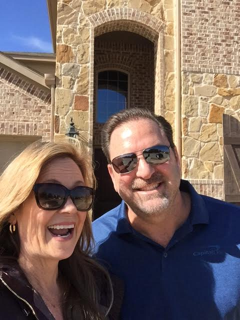 David had never seen our house in person, so this was a very exciting moment.... we just had to capture it with a selfie. Most of the houses in this area are made of stone and brick... being a mid-westerner, I love me some brick!!!