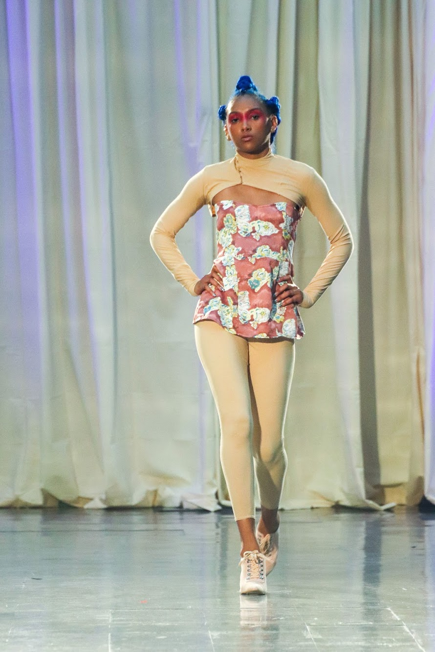 Zipora's design from her fashion show with the Brooklyn Fashion Academy in May 2019