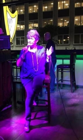 Joan Jaffe featured singer at the Harp Bar (NYC)