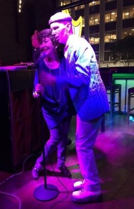 Joan at The Harp Bar with David Vernon (NYC)