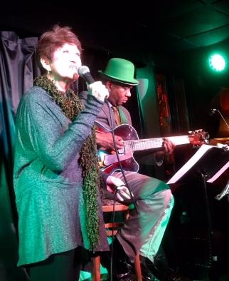Joan at Pangea (NYC) Scot Albertson's St. Paddy's Day Celebration - Ron Jackson on guitar