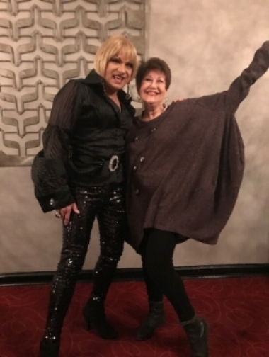 Joan with Robin Kradles at The Salon (NYC)