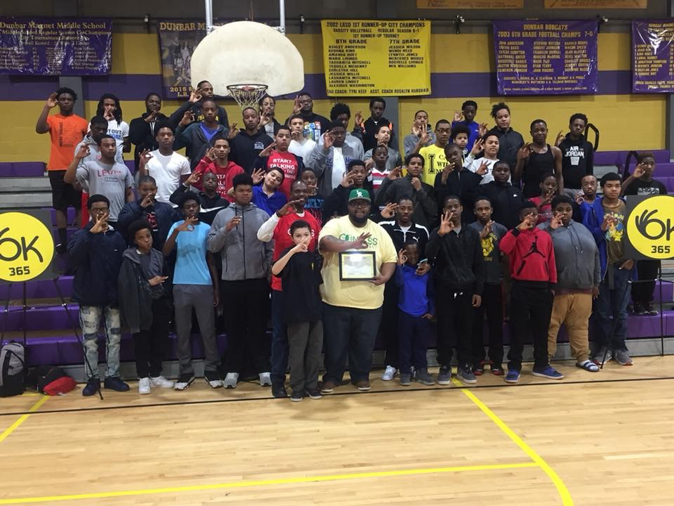 """- Lorenzo P. Lewis spoke from his heart today as he encouraged the hearts and minds of the OK Program students by encouraging them to allow their """"Pain to fuel their Purpose""""!"""