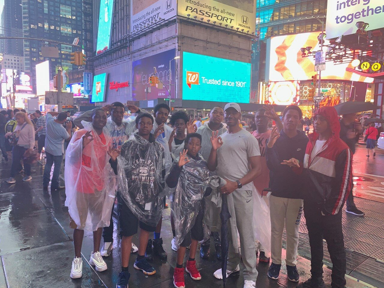 - Officer Keyes with the boys at Times Square in New York City