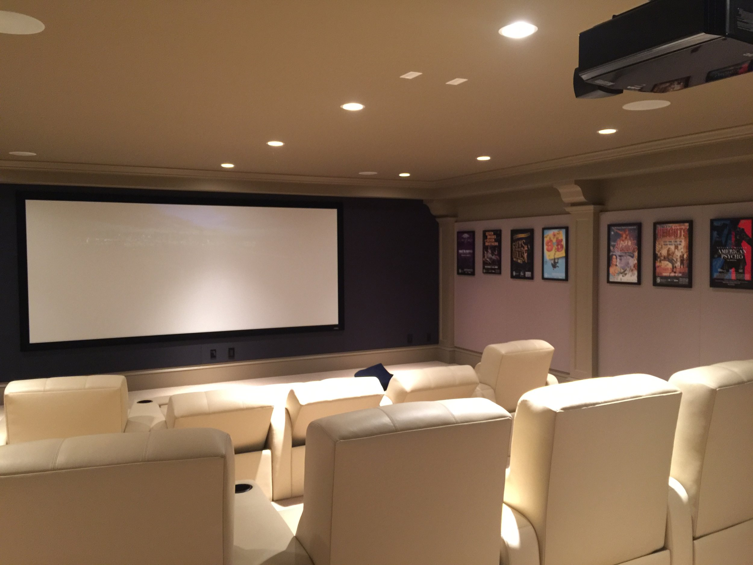 10 very comfortable seats in 235:1 Widescreen, movie night!