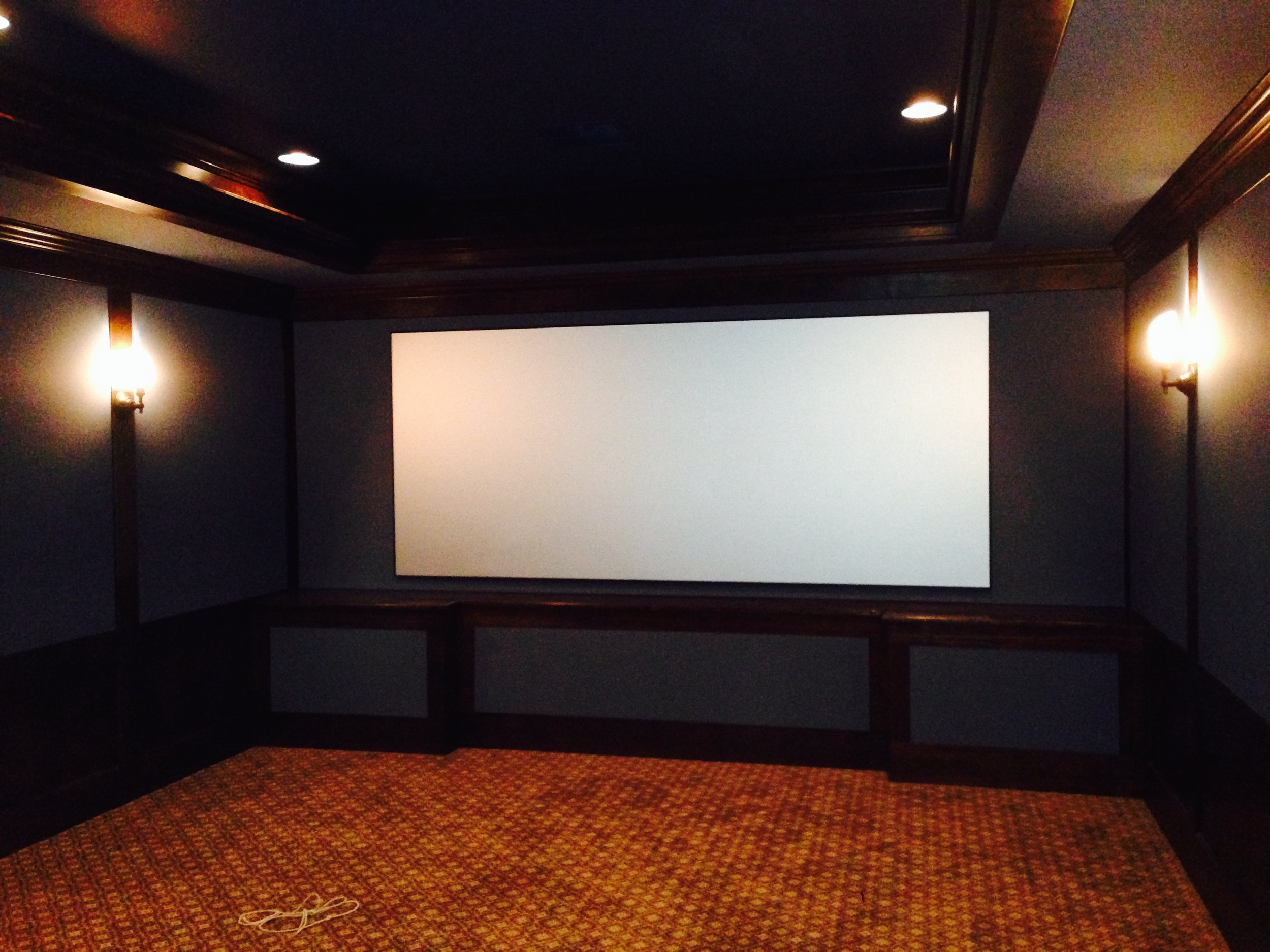 Basement Theater remodel