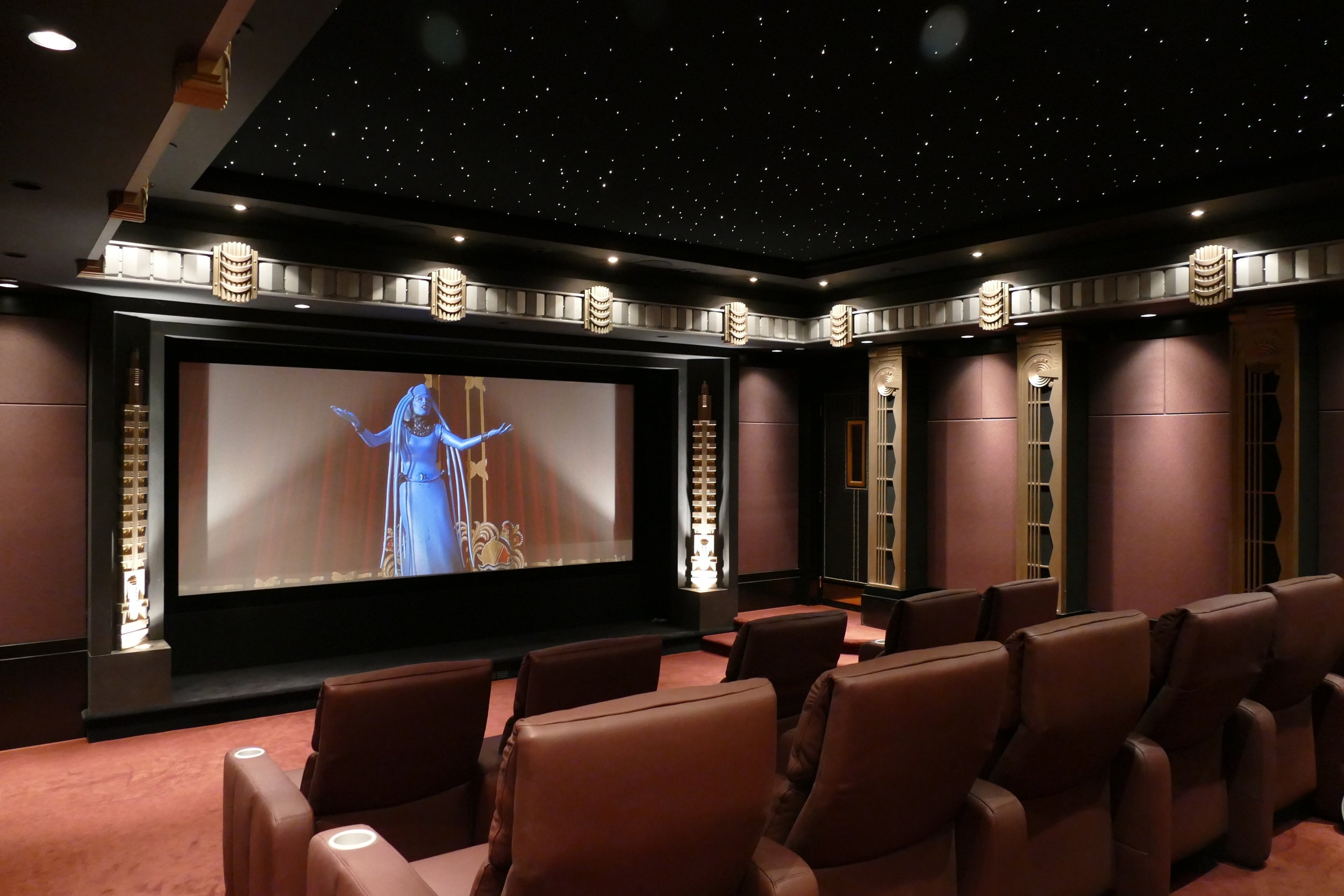 Richly created Theater interiors, high performance technology provide great outcomes