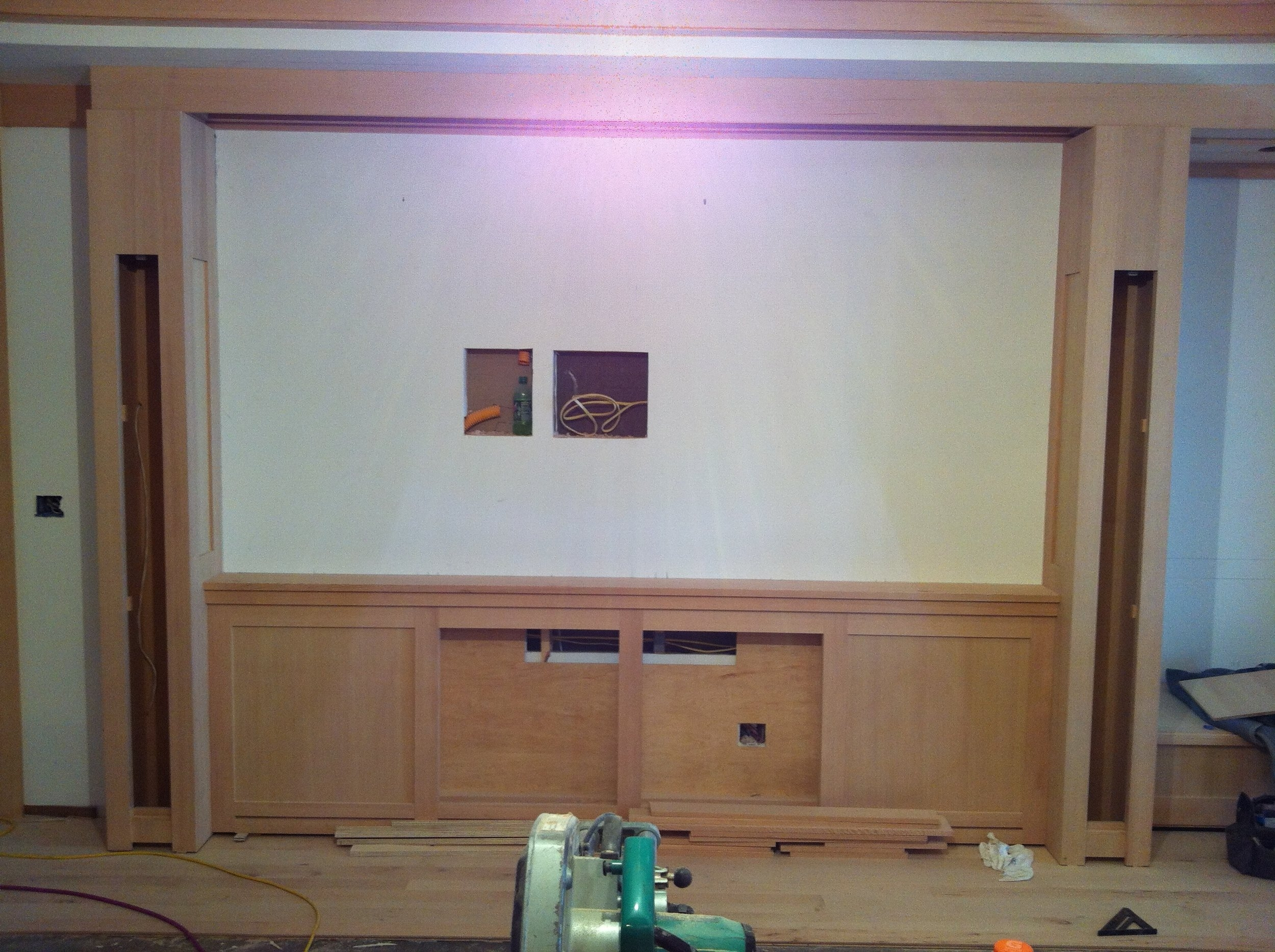 Cabinets built to conceal high-performance audio