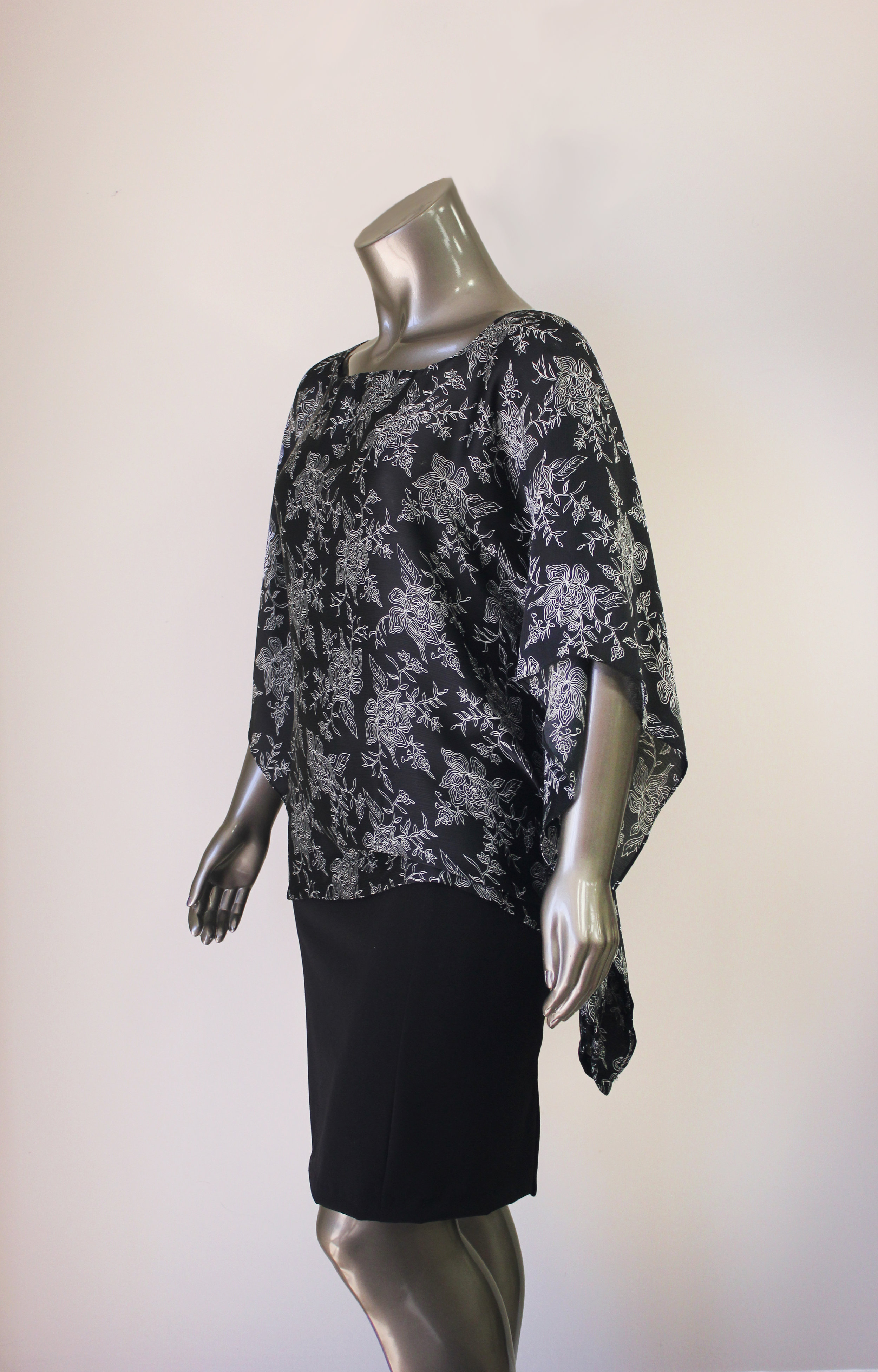 Black and White Floral Blouse - $120 CAD