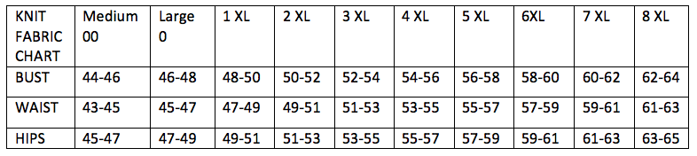 *All sizing in US Numeric