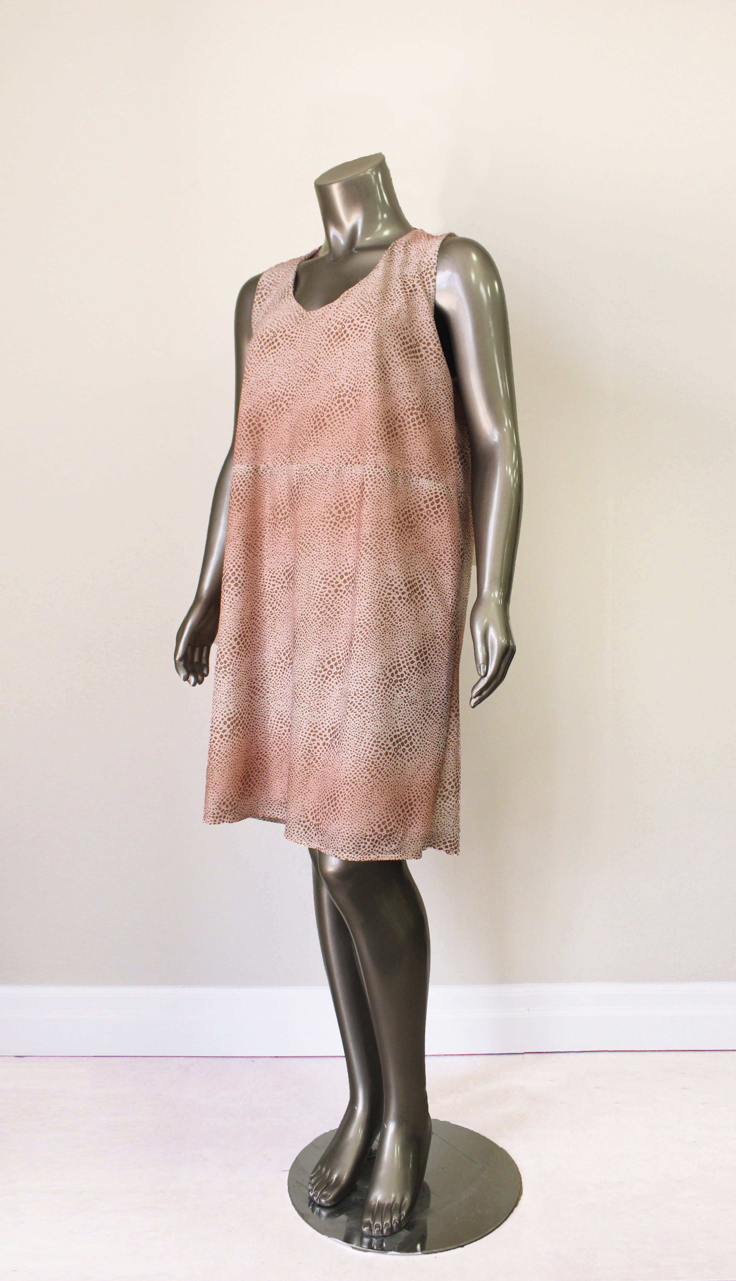 Pink Animal Print Dress - $88CAD