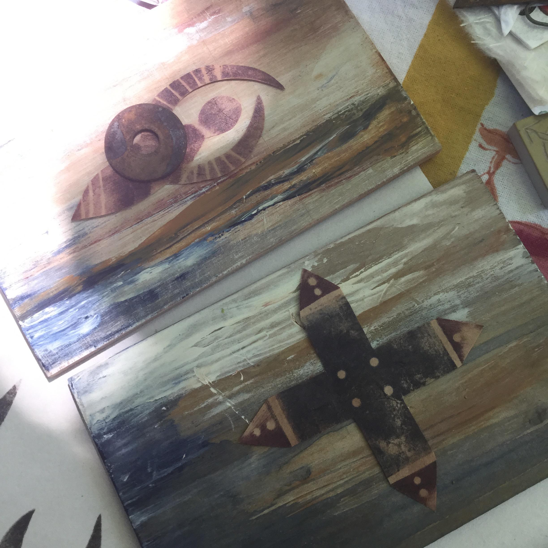 Tonia Jenny's art in progress.