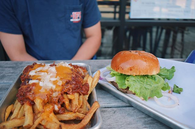 a burger and some loaded fries to kick off the weekend!