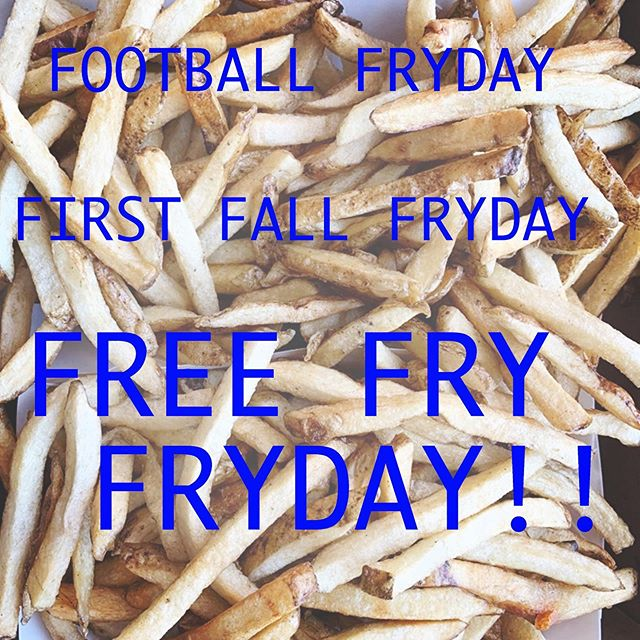 Mention this post for a FREE REGULAR FRY with any hot dog, burger or chicken sandwich purchase. FREE FRY FRYDAY!